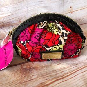 New Betsey Johnson Cheetah Cosmetic Bag